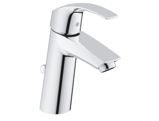 Grohe Eurosmart wastafelkraan medium met waste chroom 0436335