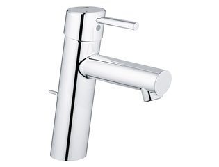 Grohe Concetto wastafelkraan medium met waste 28mm met temperatuurbegrenzer chroom 0442045