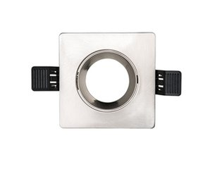 Interlight frame vierkant IP20 tbv LED module MR16 90mm geborsteld chroom IL F90SM 4246926