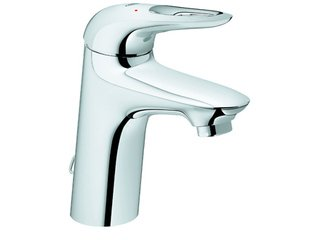Grohe Eurostyle New 1 gats wastafelkraan M size met ketting chroom SW47053