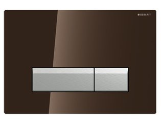 Geberit Duofresh Sigma 40 bedieningsplaat met geurafzuiging umbra glas/alu OUTLET OUT5687