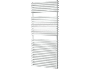 Plieger Florian Nxt designradiator dubbel horizontaal 1406x600mm 1153W zilver metallic OUTLET OUT5155