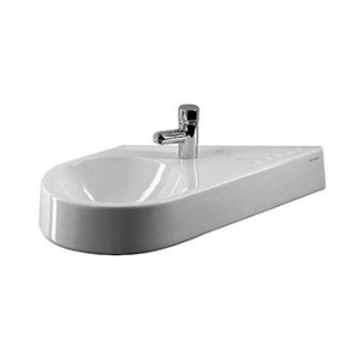 Duravit Architec fontein 64.5x41cm diagonaal links wit