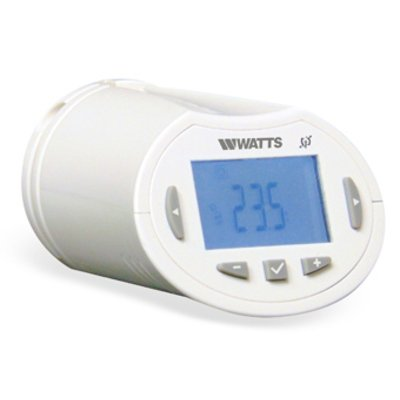 Watts Vision programmeerbare thermostaatknop incl. M30x1.5 / M28x1.5 adapters RF 868 MHz