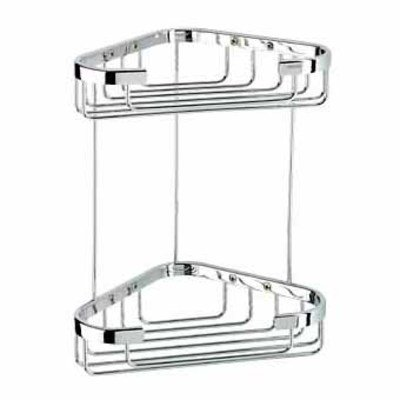 Geesa Basket Corbelle de douche double moyenne chrome