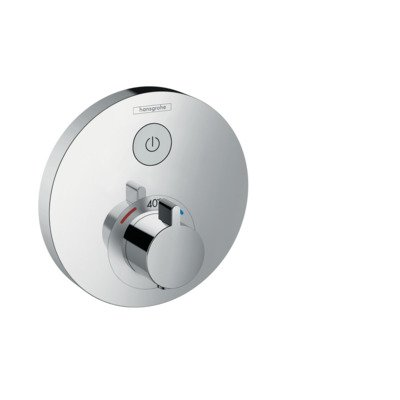 Hansgrohe ShowerSelect S afbouwdeel voor inbouwkraan thermostatisch met 1 stopkraan voor 1 douchefunctie chroom