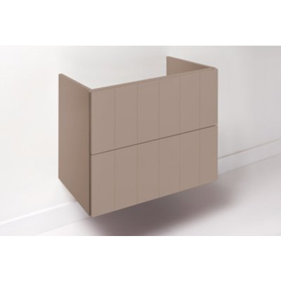 Detremmerie No Limit Classic wastafelonderbouwkast I50 m. 2 laden push-to-open 120x50x59cm v. wastafel midden, links of rechts mat wit 50K2LD121LA91 OUTLET