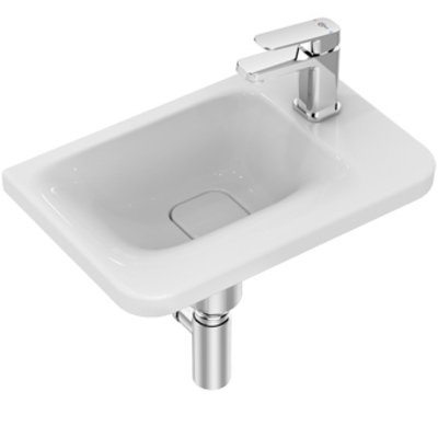 Ideal Standard Tonic II fontein met kraangat rechts zonder overloop 46x31cm Ideal Plus met IdealFlow wit