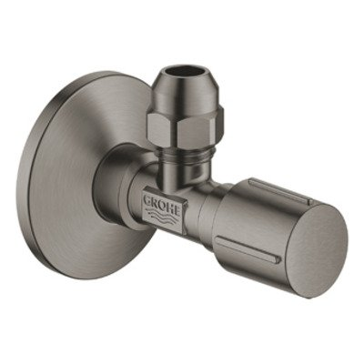 Grohe hoekstopkraan knel 1/2x3/8 m. metalen greep brushed hard graphite