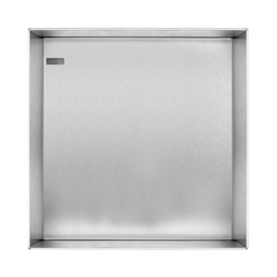 Looox Colour box Niche encastrable 30x30cm inox brossé