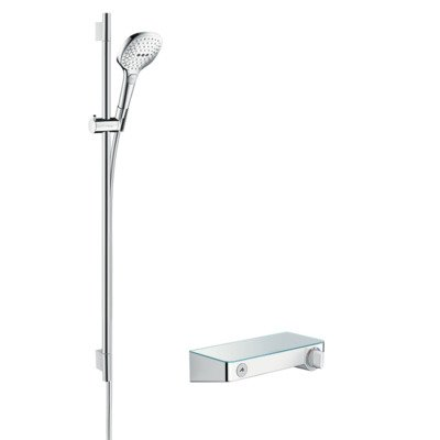Hansgrohe Select shower tablet s300 met raindance s e120 douchecombinatie 90cm wit chroom