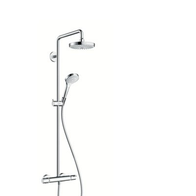 Hansgrohe Showerpipe Croma Select S 180 2jet blanc/chromé