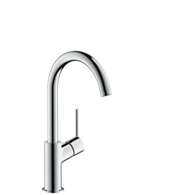 hansgrohe talis s2 robinet pour lavabo avec bec rehauss tournant et bonde chrome 32082000. Black Bedroom Furniture Sets. Home Design Ideas