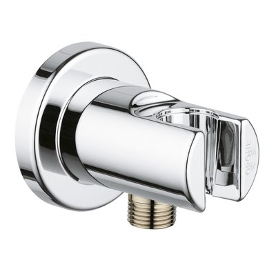 Grohe Relexa Coude mural 1/2 avec support mural pour douchette Chrome