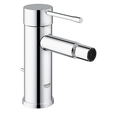 Grohe Essence New 1 gats bidetkraan S size met waste met 28mm cartouche chroom