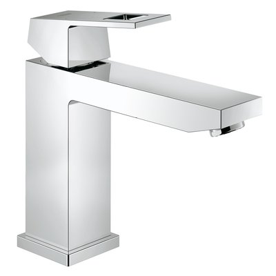 Grohe Eurocube wastafelkraan medium 28mm met temperatuurbegrenzer chroom