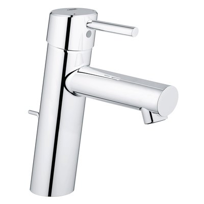 Grohe Concetto wastafelkraan medium met waste 28mm met temperatuurbegrenzer chroom