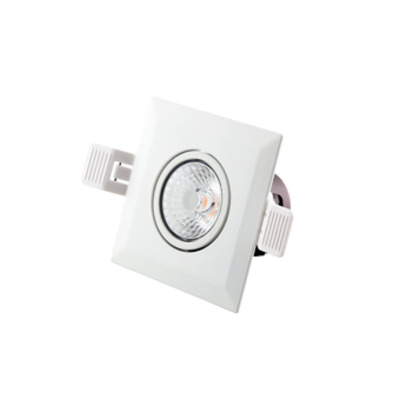 Interlight LED downlight vierkant dimbaar 90mm 9W wit IL DC9S36DCW