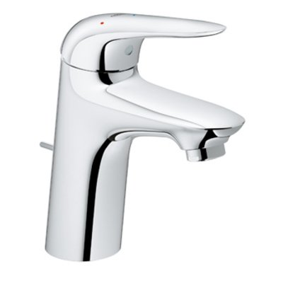 Grohe Wave New wastafelkraan M size met waste chroom