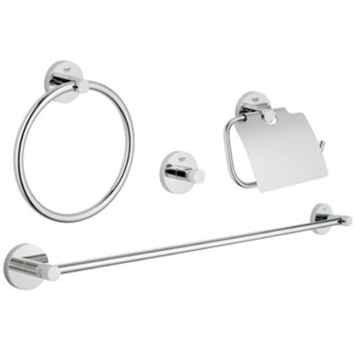Grohe Essentials accessoireset 4 in 1 chroom