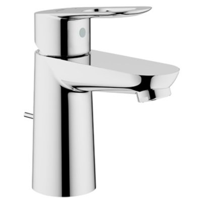 Grohe Bau Loop 1 gats wastafelkraan met waste met open greep chroom