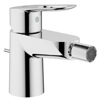 Grohe Bau Loop 1 gats bidetkraan met waste met open greep chroom