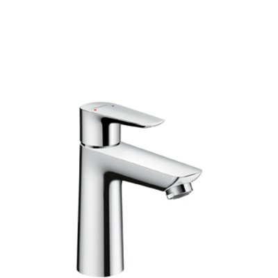 Hansgrohe Talis E 1-gats wastafelkraan 110 met waste brushed black chroom