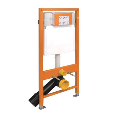 Rezi Quick Fit Beauty WC element zelfdragend met frontbediening voor wand en hoekopstelling