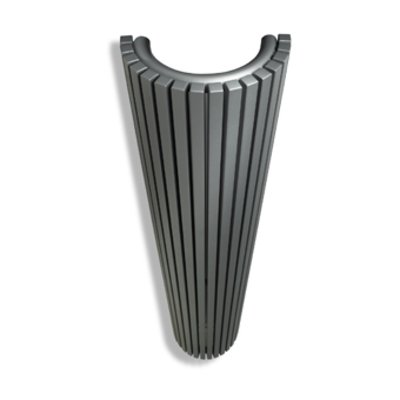 Vasco Carre Halfrond CR O designradiator halfrond verticaal 430x2000mm 2174 watt antraciet