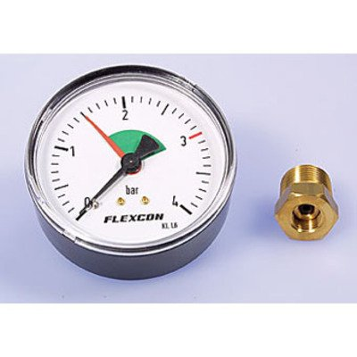 Flamco Flexcon mano thermometer 84 mm 1/2 met dompelbuis axiaal