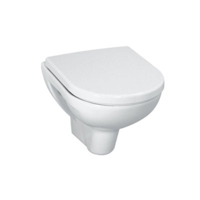 Laufen Pro wall closet pack deep flush compact with softclose slimseat toilet seat white