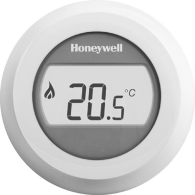 Honeywell thermostat d'ambiance rond avec affichage lumineux 24v rond on/off blanc t87g2014 e