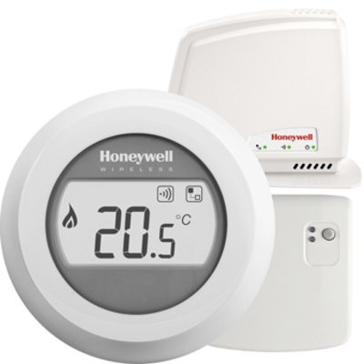 Honeywell Round Connected kamerthermostaat draadloos 24V Round Connected Wireless On/Off wit