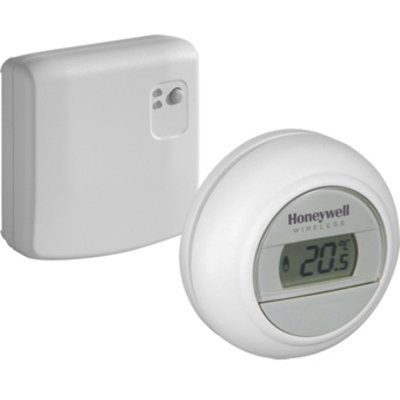 Honeywell Round kamerthermostaat draadloos 24V Round Modulation wit