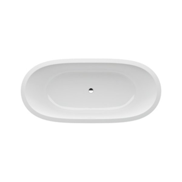 Laufen Alessi One kunststof inbouwbad acryl ovaal (Solid Surface) 182.8x86.8x46cm incl. click clack waste wit 0192322