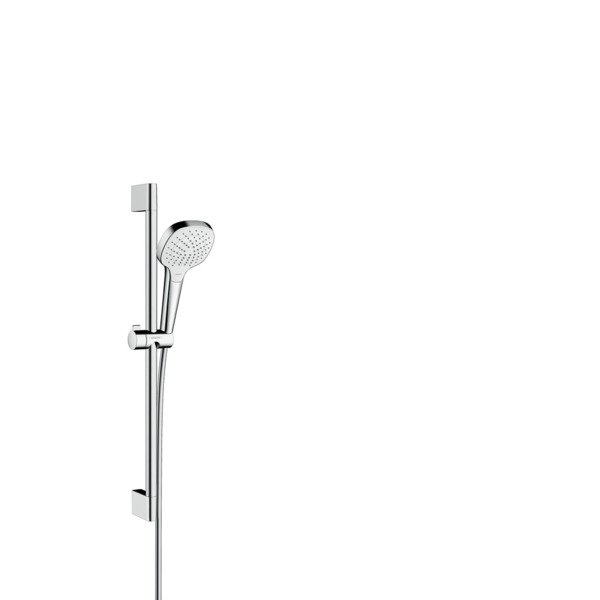 Hansgrohe Croma Select E Vario glijstangset met Croma Select E Vario handdouche EcoSmart 65cm met Is
