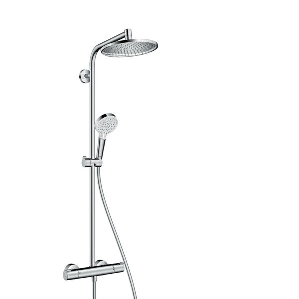 Hansgrohe Crometta s 240 1jet showerpipe met thermostaat chroom 27267000
