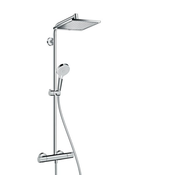 Hansgrohe Crometta E 240 1jet showerpipe met thermostaat chroom 27271000