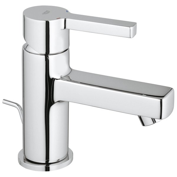 Grohe Lineare wastafelkraan 28mm met waste chroom 0434026