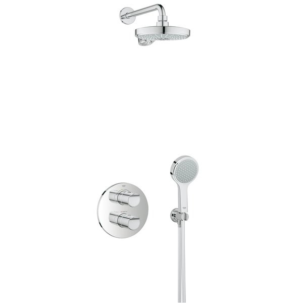 grohe grohtherm 2000 perfect shower set met. Black Bedroom Furniture Sets. Home Design Ideas