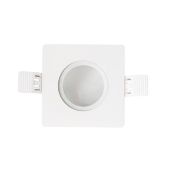 Interlight frame vierkant IP65 tbv LED module MR16 90mm wit IL F90SIPW IL-F90SIPW