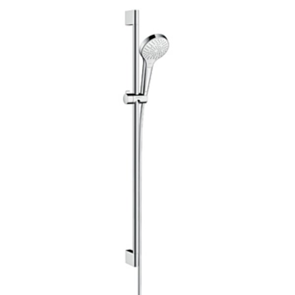 Hansgrohe Croma Select S Multi glijstangset met Croma Select S Multi handdouche EcoSmart 90cm met Is