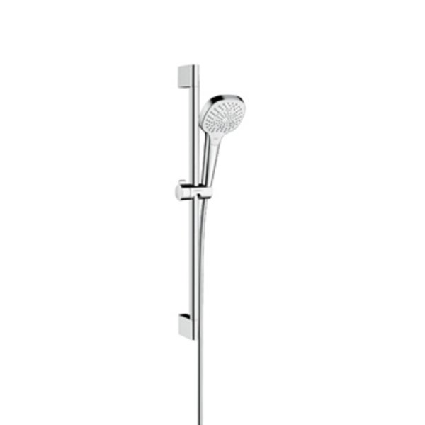 Hansgrohe Croma Select E Multi glijstangset met Croma Select E Multi handdouche EcoSmart 65cm met Is