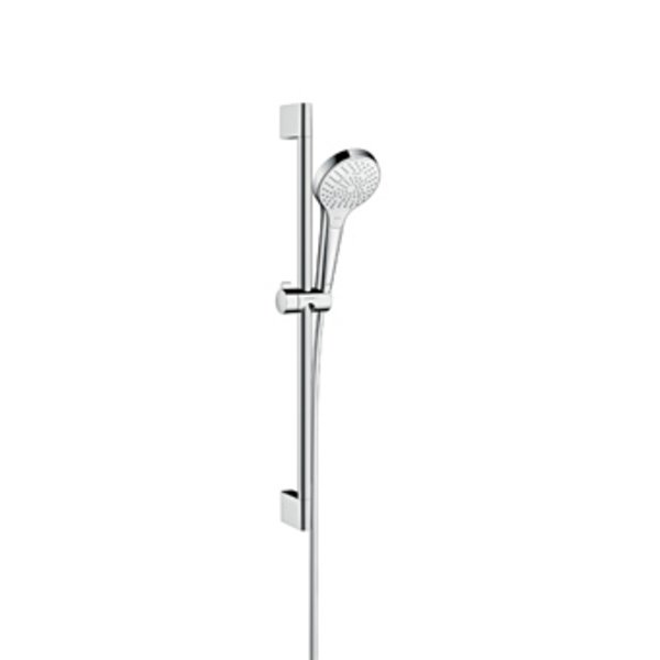 Hansgrohe Croma Select S Multi glijstangset met Croma Select S Multi handdouche EcoSmart 65cm met Is