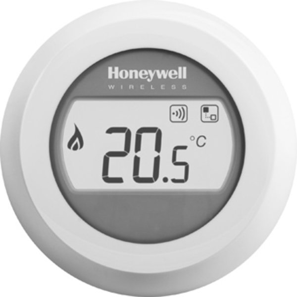 Honeywell Round kamerthermostaat draadloos 24V Round On/Off wit 8303807