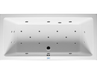 RIHO Lusso whirlpool bad 180x80cm electronisch rechts Wit glans 6/4/2flatjets SW17193