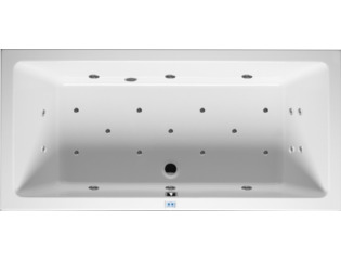 RIHO Lusso whirlpool bad 180x80cm electronisch links Wit glans 6/4/2flatjets SW17194
