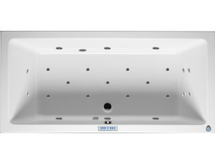 RIHO Lusso whirlpool bad 180x80cm met kleurentherapie links Wit glans 6/4/2jets SW17198