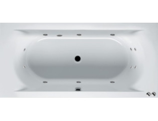 RIHO Lima whirlpool bad 190x90cm pneumatisch links Wit glans 6/4/2jets SW17268