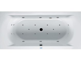 RIHO Lima whirlpool bad 200x90cm electronisch rechts Wit glans 6/4/2jets SW17288